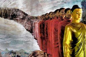 Buddha and Monks