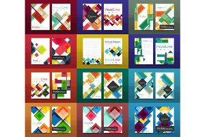 Set of a4 business brochures or annual report covers