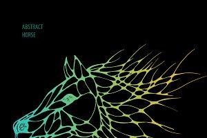 abstract horse. vector