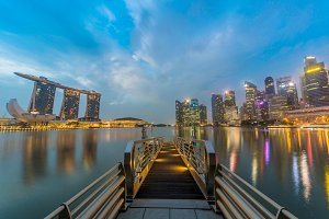 landscape of marina bay singapore