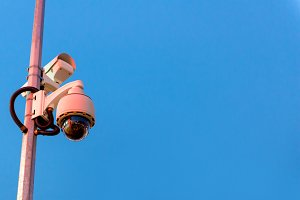 CCTV camera and urban video