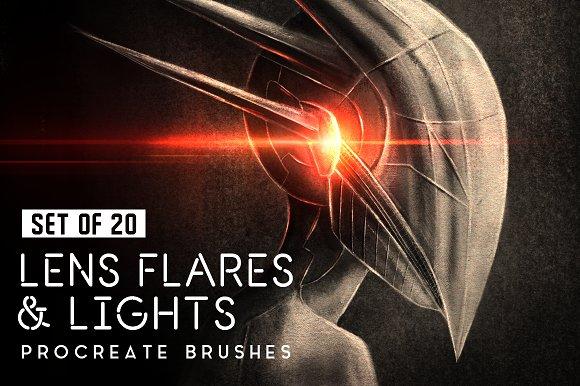 Lens Flares Procreate Brushes