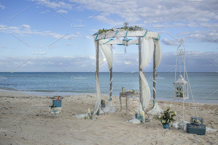 Vintage Beach Wedding Gazebo