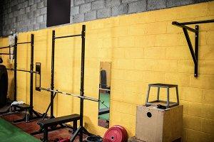 Exercising equipment in the fitness studio