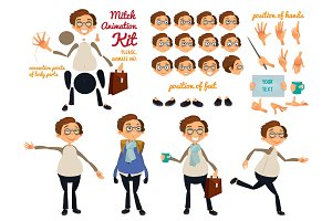 Vector character set for animation