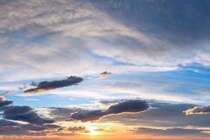 Sunset sky background panorama