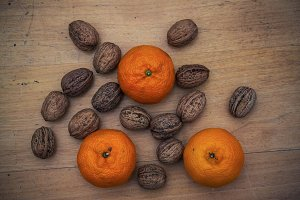 Mandarin oranges and Walnuts