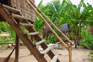 Wood and Bamboo Steps