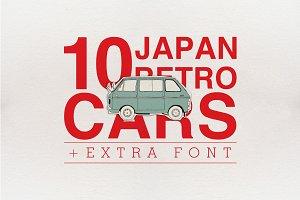 10 Japan Retro Cars + Extra