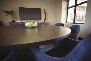 View of modern meeting room