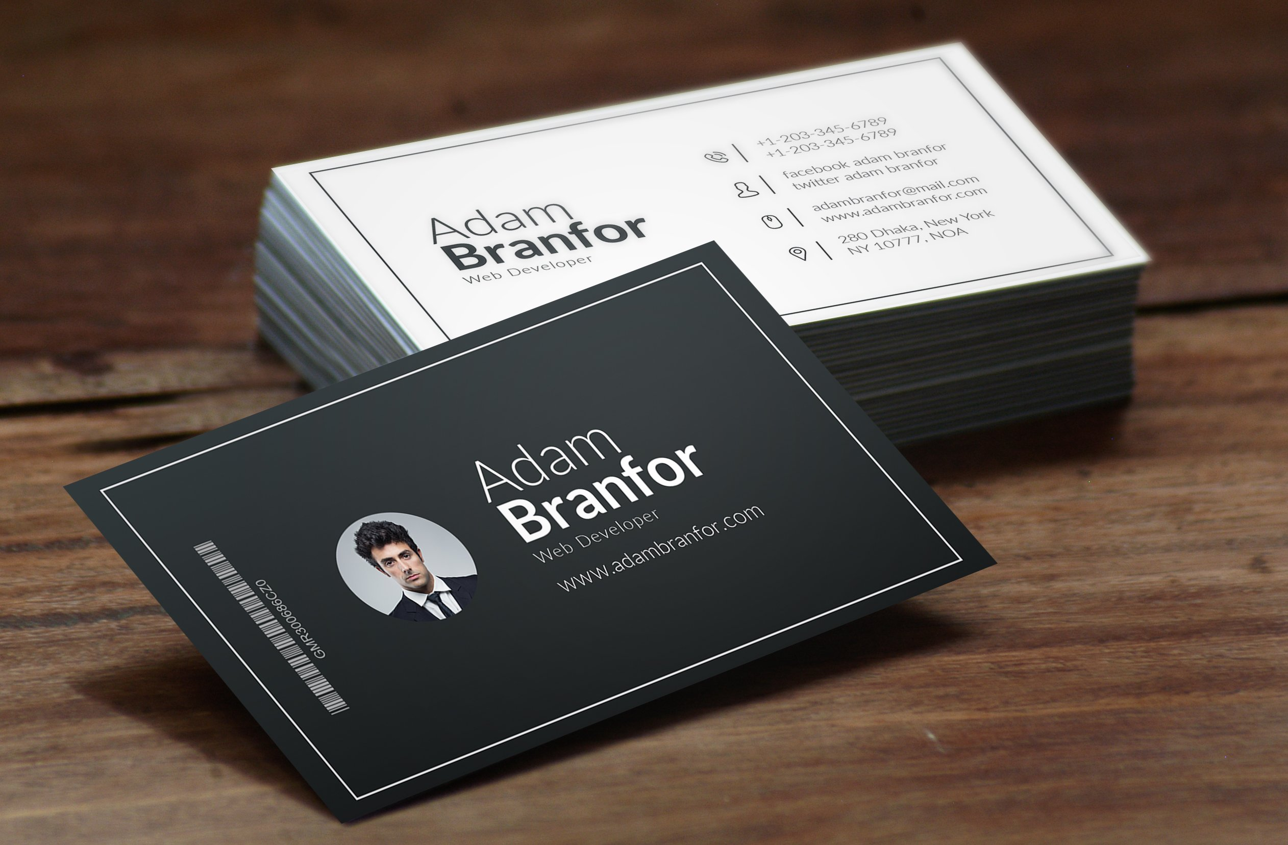 Lovely stock of simple business card business cards and resume web developer business card business card templates creative magicingreecefo Choice Image