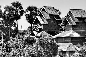 Burmese Architecture (B&W)