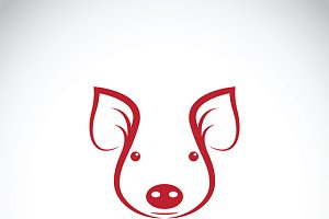 Vector of a pig head. Farm Animals.