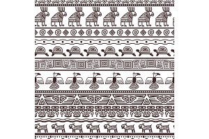 Ethnic aztecs or peruvian pattern template