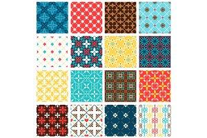 Vintage spanish tiles set