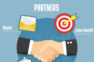 Partnership flat vector