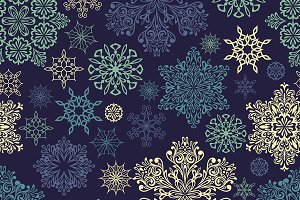 Vector Seamless Pattern with white s