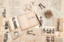 Old Letters and Fashion Drawings