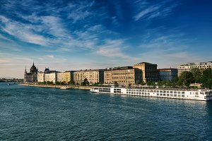 Budapest embankment, Hungary