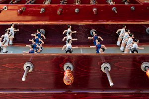 Detail of an old foosball (1)