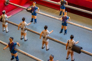 Detail of an old foosball (5)