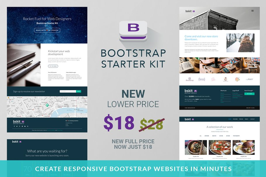 Bootstrap Starter Kit - Web Edition ~ Bootstrap Themes
