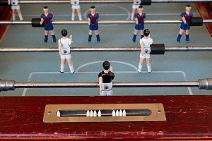 Detail of an old foosball (4)