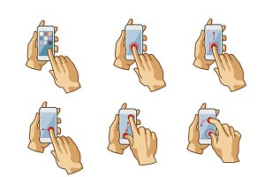Touchscreen gestures iconset
