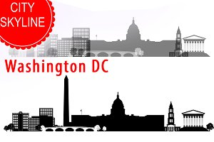 Washington DC vector Skyline