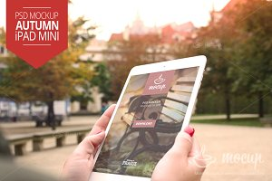 iPad Mini Mockup Autumn