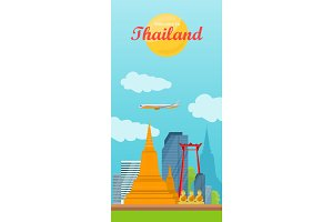 Travel to Thailand Vector Concept in Flat Design