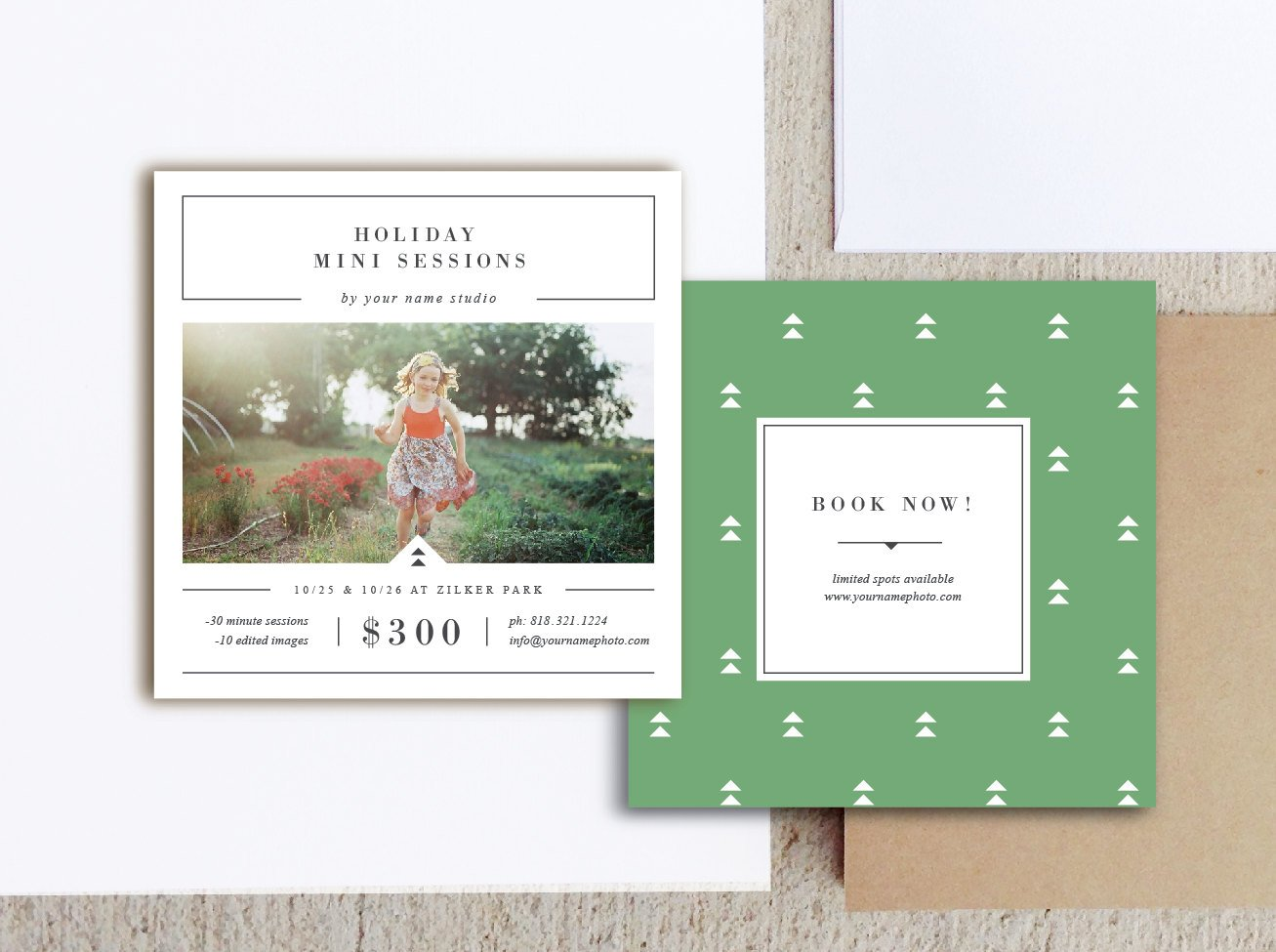 Holiday mini session templates brochure templates for Christmas brochure template