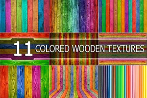 Colored wooden TEXTURES