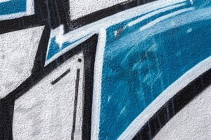 Detail of a graffiti