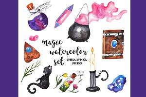 Magic watercolor set