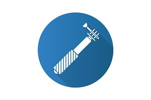Monopod flat design long shadow icon