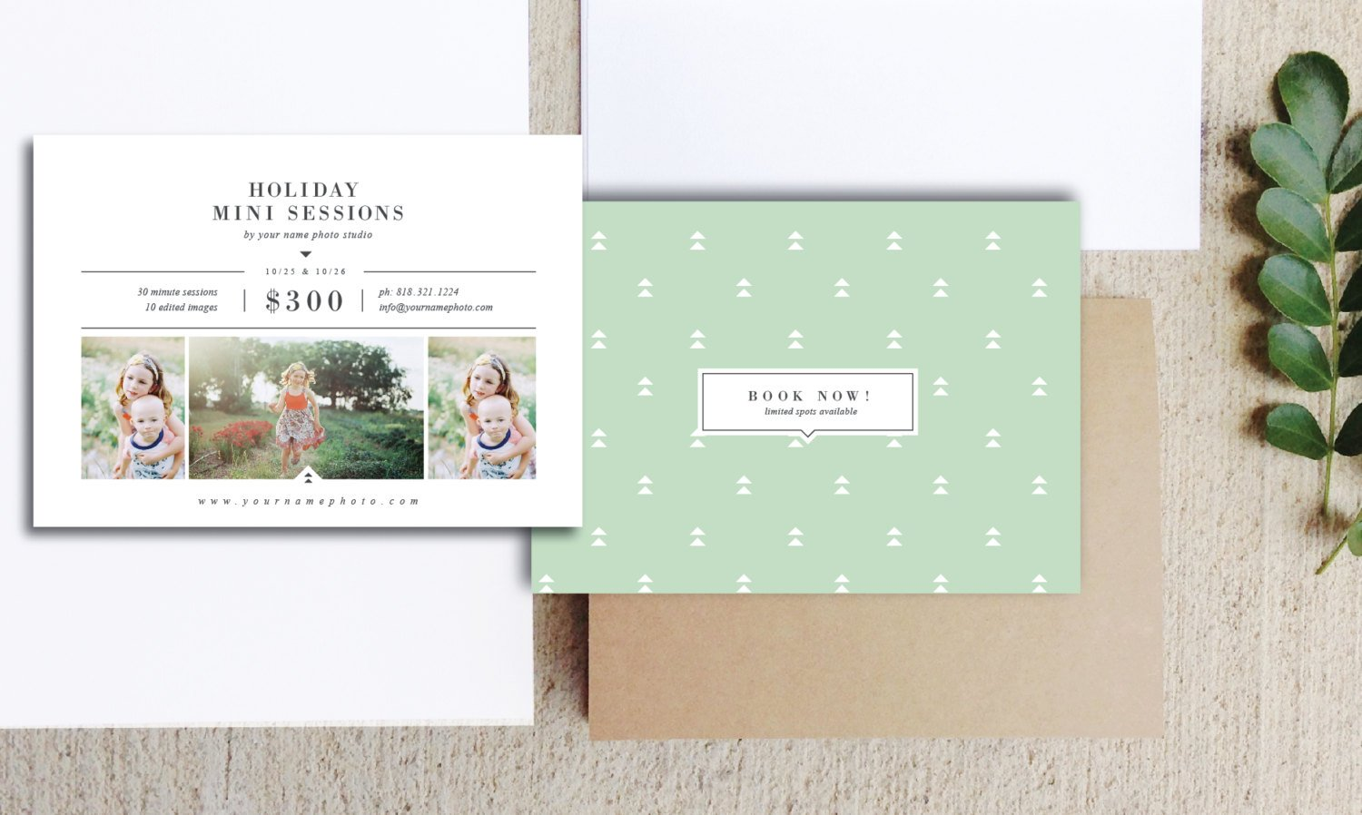 Holiday mini session templates flyer templates for Holiday brochure template
