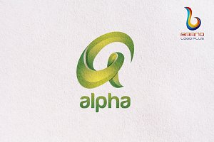 Alpha 3D Letter Logo Design Template