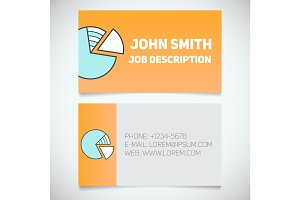 Business card print template with diagram logo