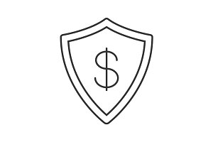 Money security linear icon