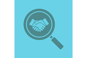 Business partner search glyph color icon