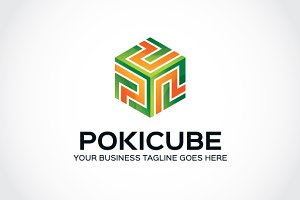 Poki Cube Logo Template