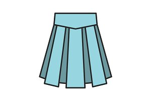 Skirt color icon