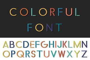 Colorful font - english alphabet