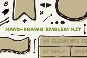 Hand-drawn Emblem Kit
