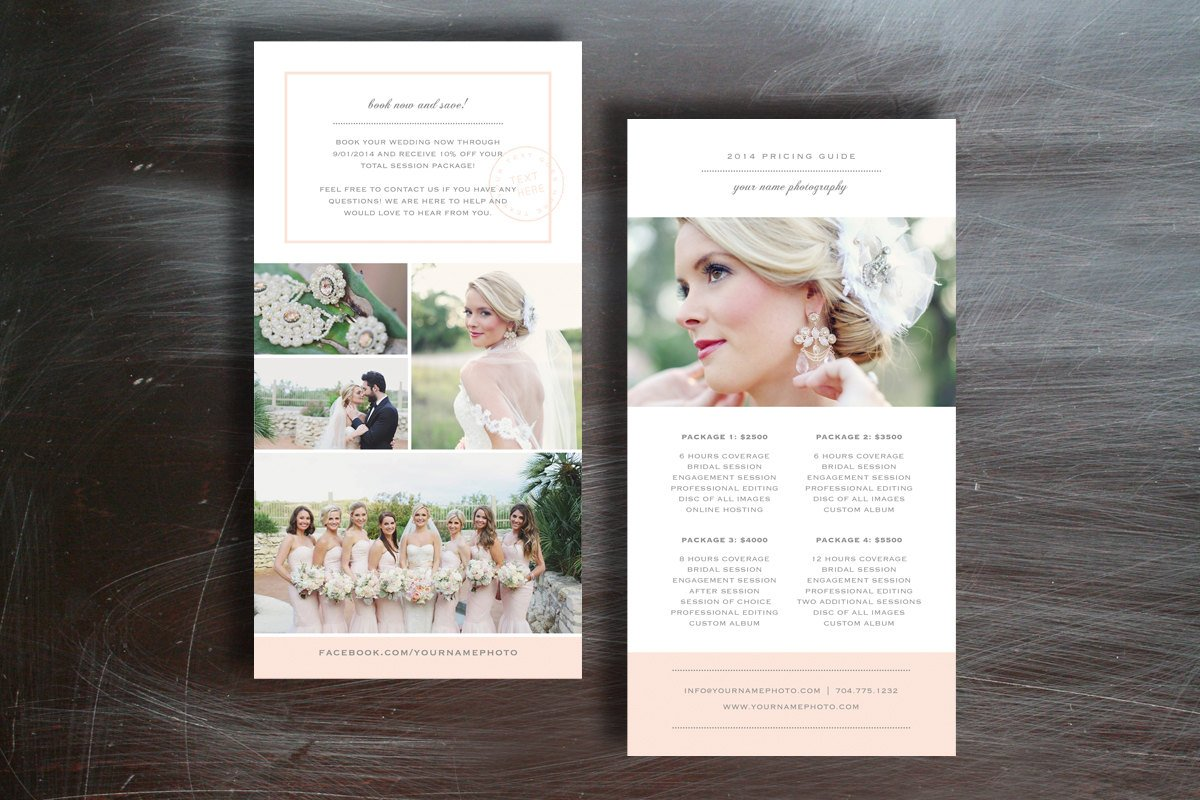 Photographer pricing guide brochure templates creative for Photography brochure templates free