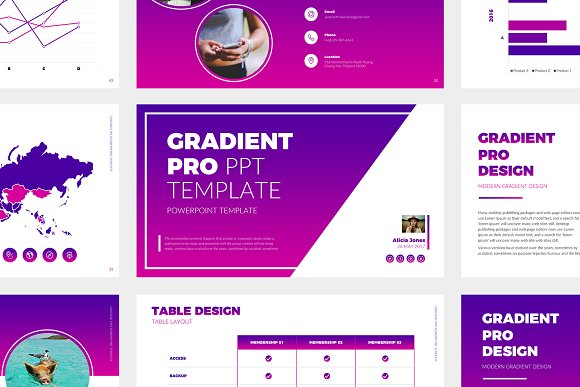Gradient Pro Powerpoint Template Presentation Templates Creative
