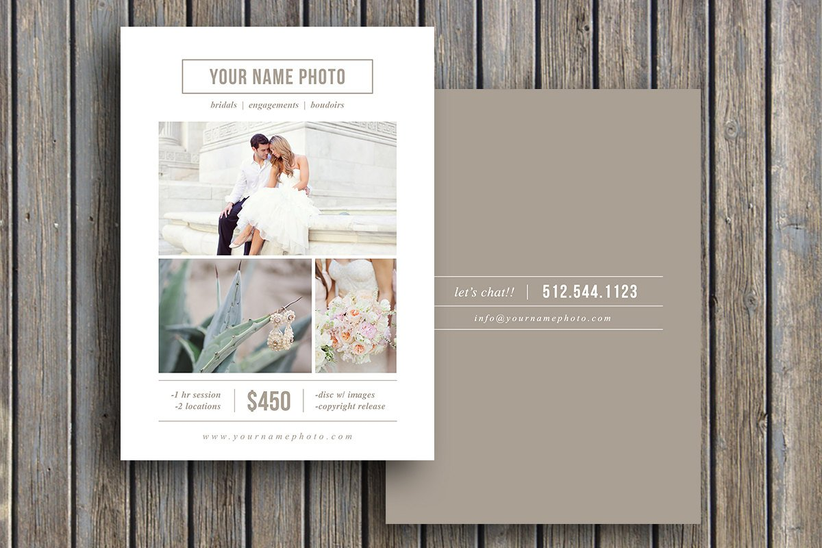 Mini session marketing template flyer templates creative market for Free mini session templates for photography