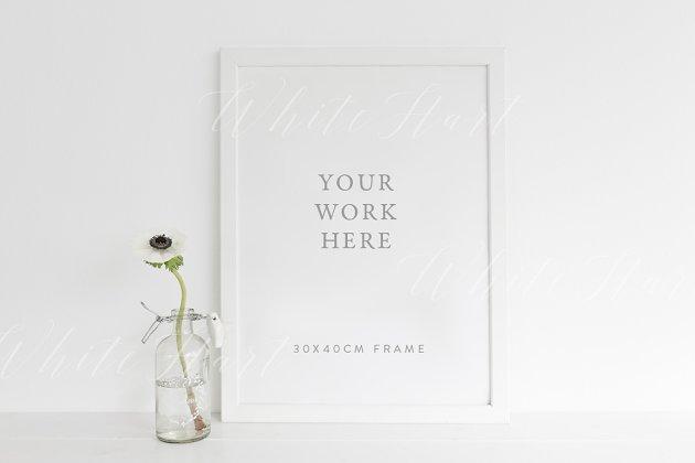 Nursery style white frame mock up - Product Mockups | Creative ...