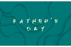 Happy Father's Day. Greeting card background vector illustration